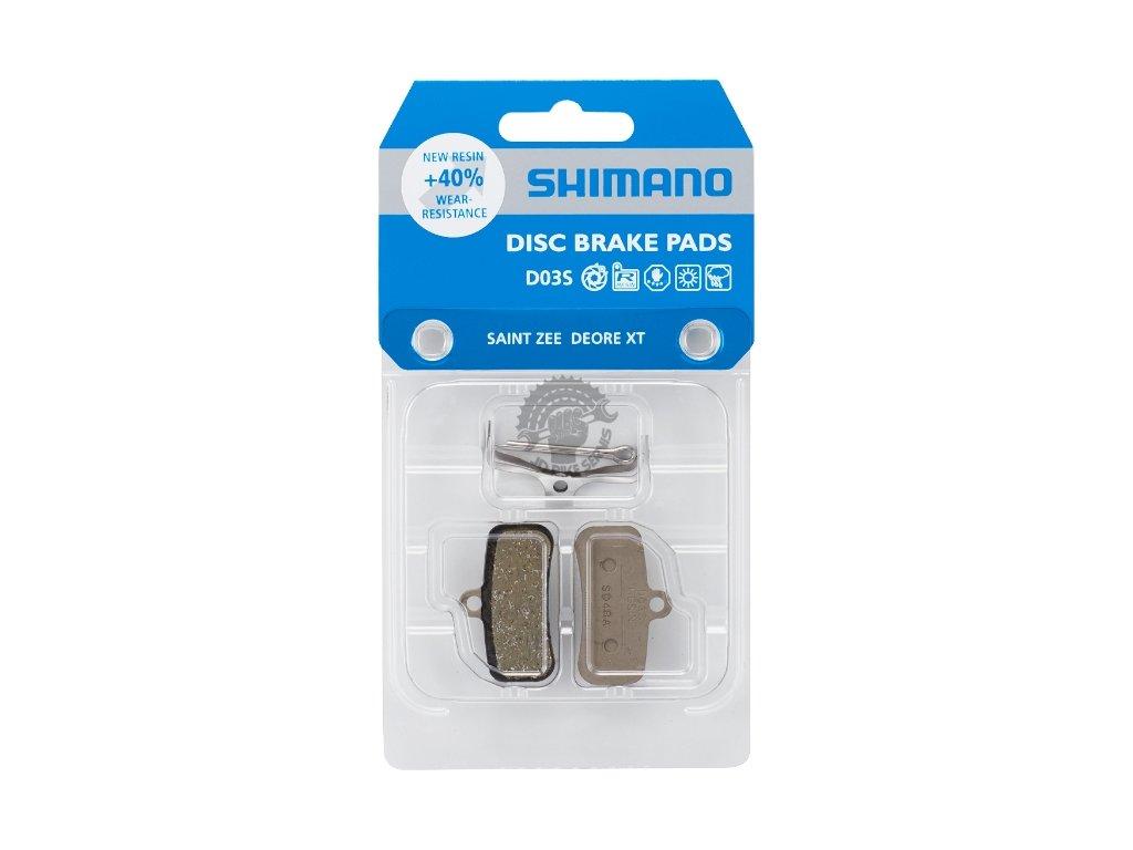 brzdove desticky shimano d03s