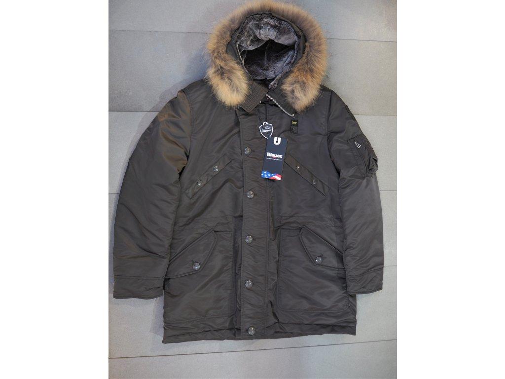Blauer zimní kabát