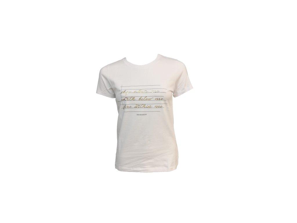 tričko trussardi bílé p