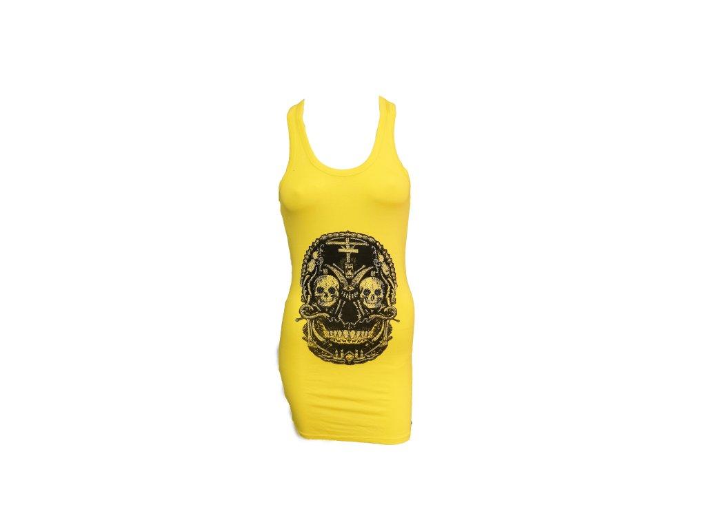 šaty žluté p