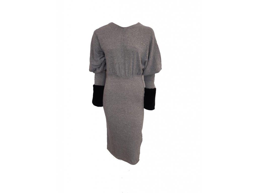 šaty šedé p
