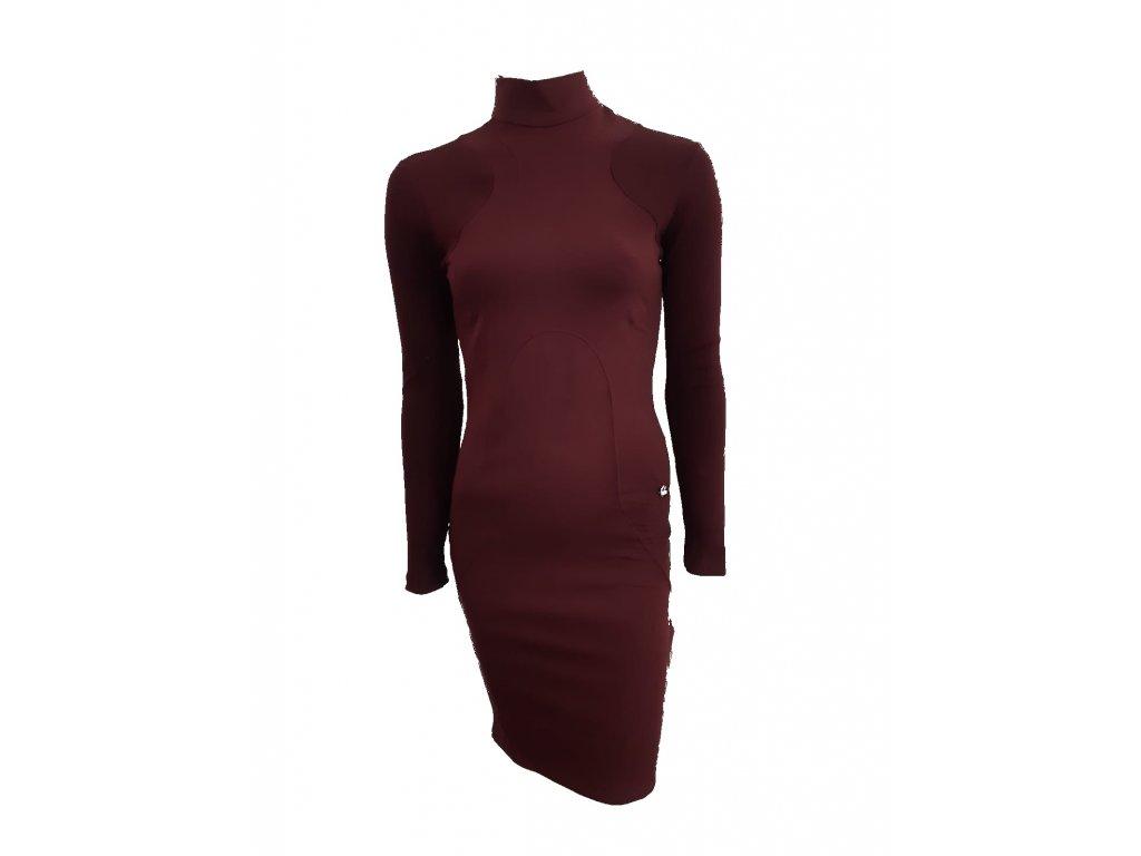 šaty vínové p