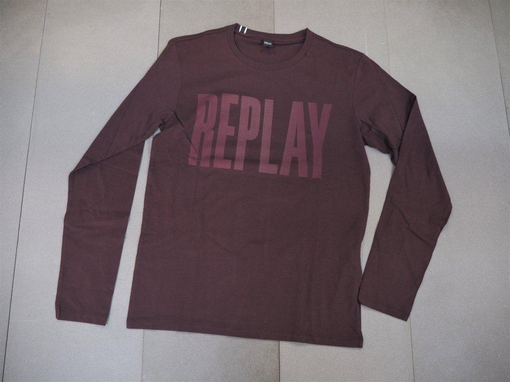 tričko s dlouhým rukávem Replay M3595