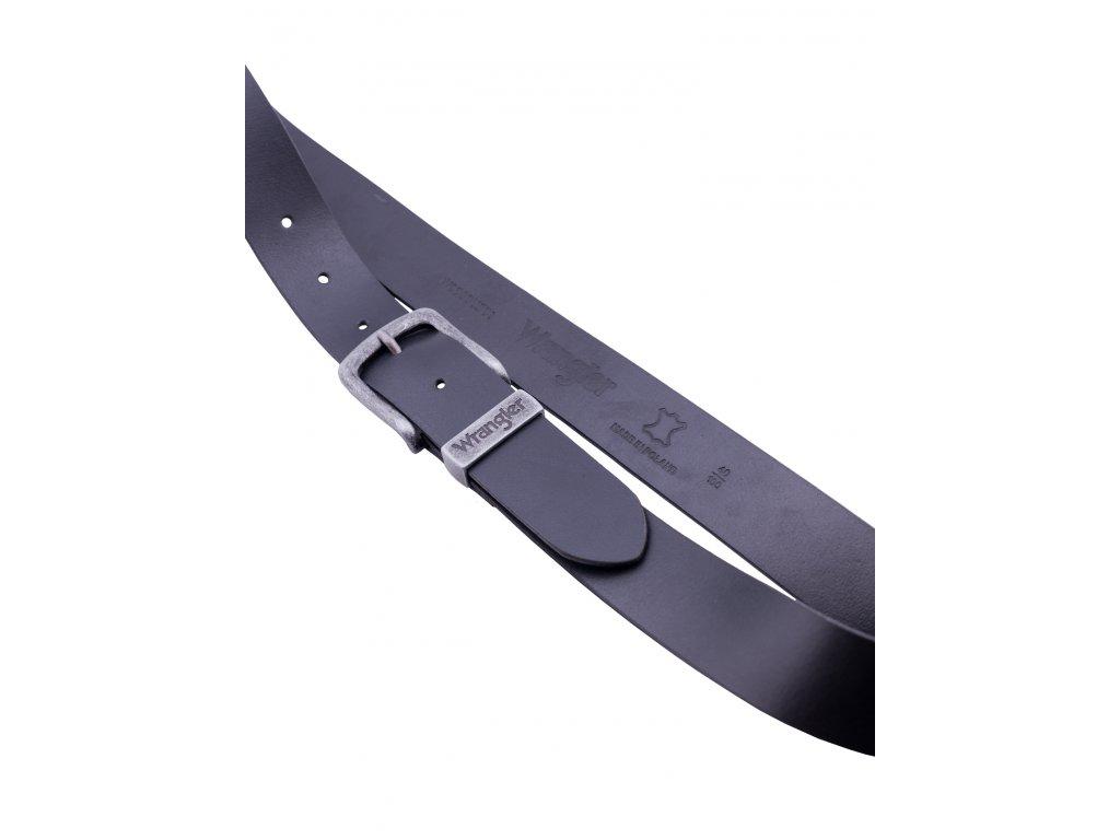 Opasek WRANGLER W0080US01 BLACK BASIC METAL LOOP (Délka 85 cm)