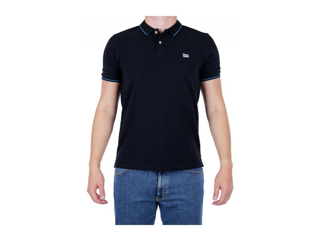 Pánske polo tričko Lee L61ARL01 Black (Veľkosť M)