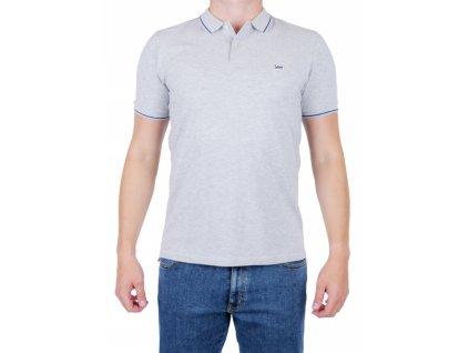 Pánske polo tričko Lee L61ARL03 Sharp Grey Mele (Veľkosť M)