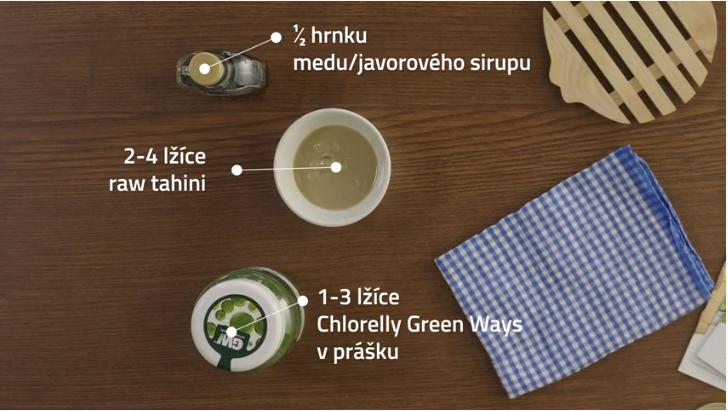 Zelený chlorellový krém