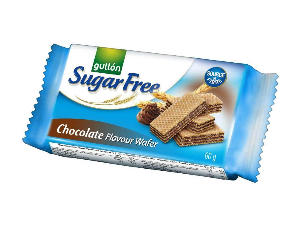 CHOCO WAFER oblátky plnené krémom s čokoládovou príchuťou, bez cukru 60 g