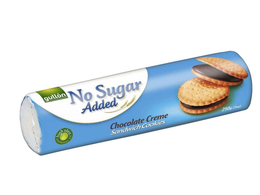 Gullón Sandwich sušenky s čokoládovou náplní, bez přidaného cukru 250 g