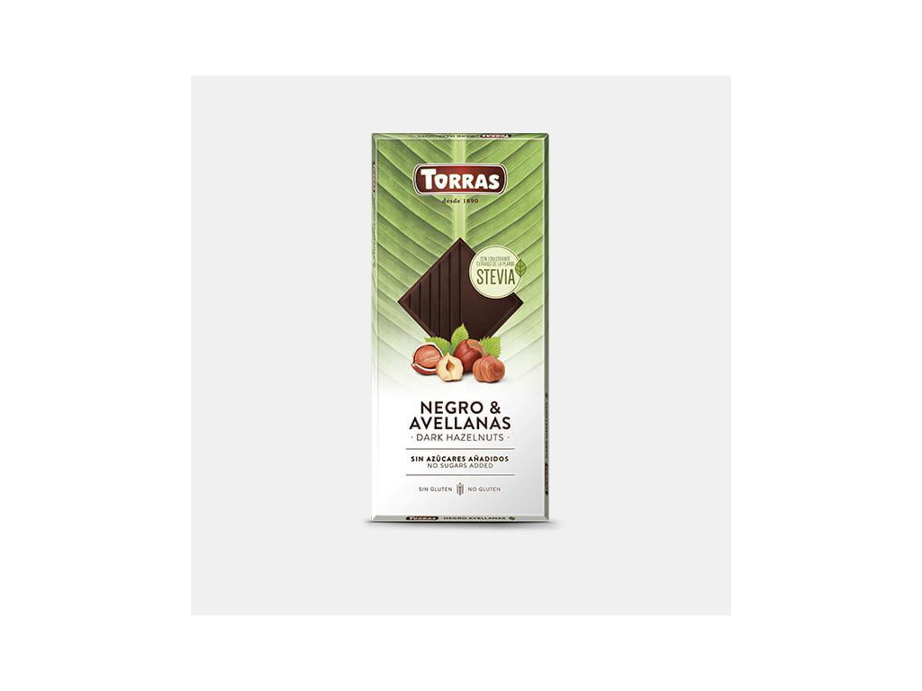 Torras Stevia horká s lieskovými orechami 125g