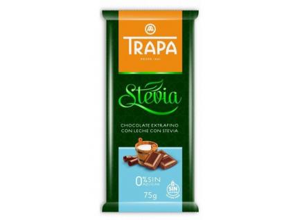 trapa mliečna čokolada so steviou