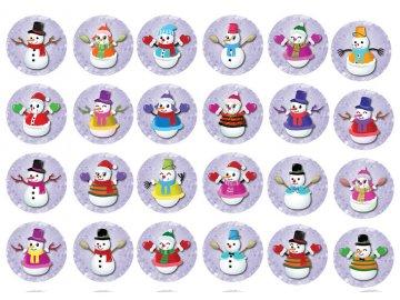 Sugar sheets - 24 x Vánoční kolečka 8 (průměr 4,5 cm)