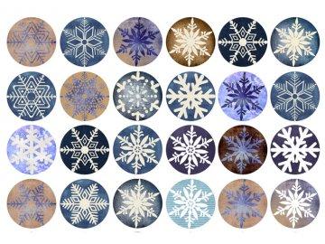 Sugar sheets - 24 x Vánoční kolečka 6 (průměr 4,5 cm)