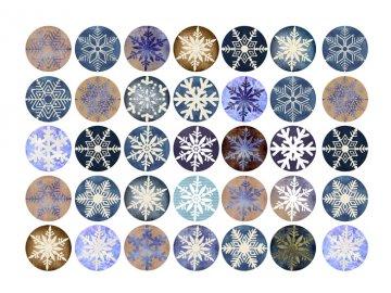 Sugar sheets - 35 x Vánoční kolečka 6 (průměr 3,5 cm)