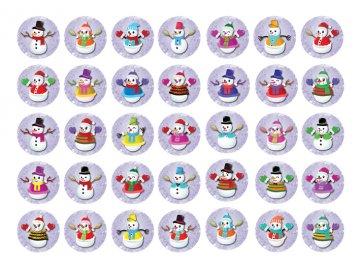 Sugar sheets - 35 x Vánoční kolečka 8 (průměr 3,5 cm)