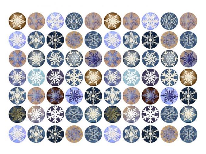 Sugar sheets - 70 x Vánoční kolečka 6 (průměr 2,5 cm)