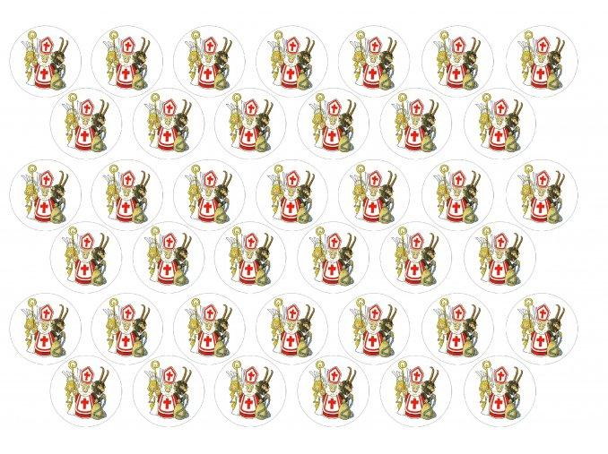 Sugar sheets - 39 x Mikulášská kolečka MK5a  (průměr 3,5 cm)