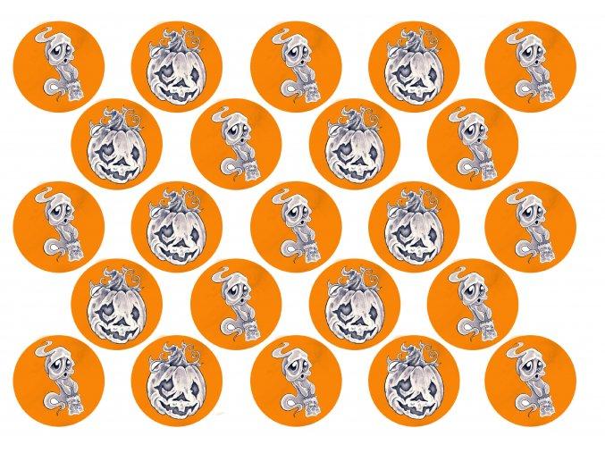 Sugar sheets - 23 x Halloween kolečka H6 (průměr 4,5 cm)