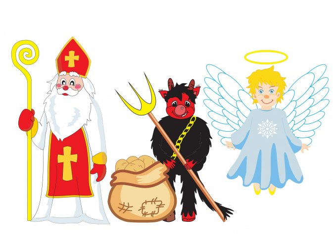 Milkuláš čert a anděl