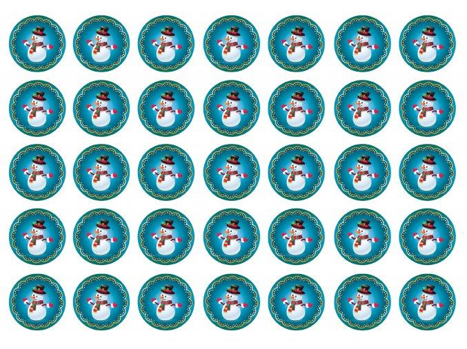 sněhuláčci modré 3,5cm nové