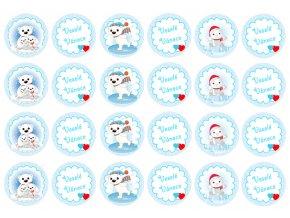 Sugar sheets - 24 x Vánoční kolečka 3 (průměr 4,5 cm)