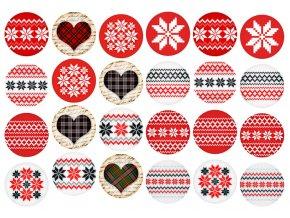 Sugar sheets - 24 x Vánoční kolečka 4 (průměr 4,5 cm)