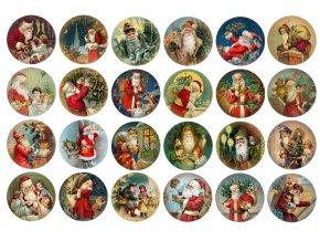 Sugar sheets - 24 x Vánoční kolečka 7 (průměr 4,5 cm)