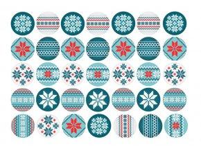 Sugar sheets - 35 x Vánoční kolečka 5 (průměr 3,5 cm)