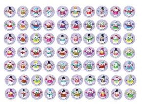 Sugar sheets - 70 x Vánoční kolečka 8 (průměr 2,5 cm)