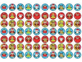 Sugar sheets - 70 x Vánoční kolečka 10 (průměr 2,5 cm)