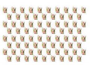 Sugar sheets - 76 x Mikulášská kolečka MK5b (průměr 2,5 cm)