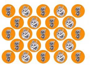 Sugar sheets - 23 x Halloween kolečka H3 (průměr 4,5 cm)