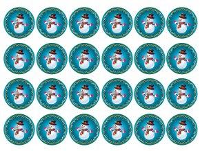 sněhuláčci modré 4,5cm nové