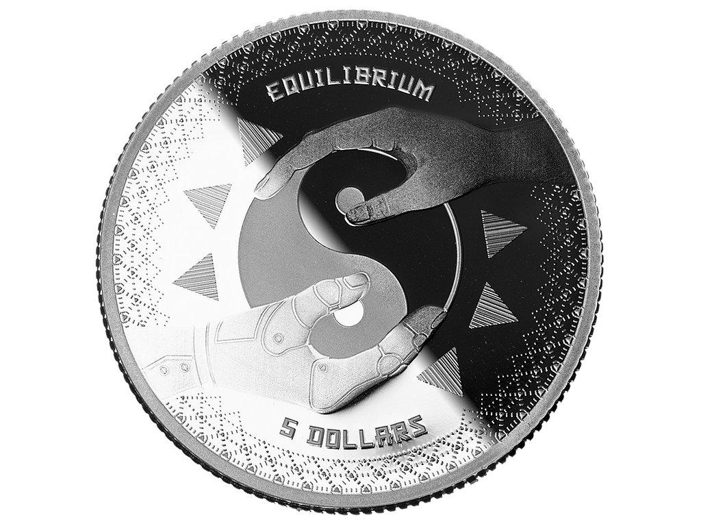 Stříbrná investiční mince 1 Oz - Equilibrium 2020