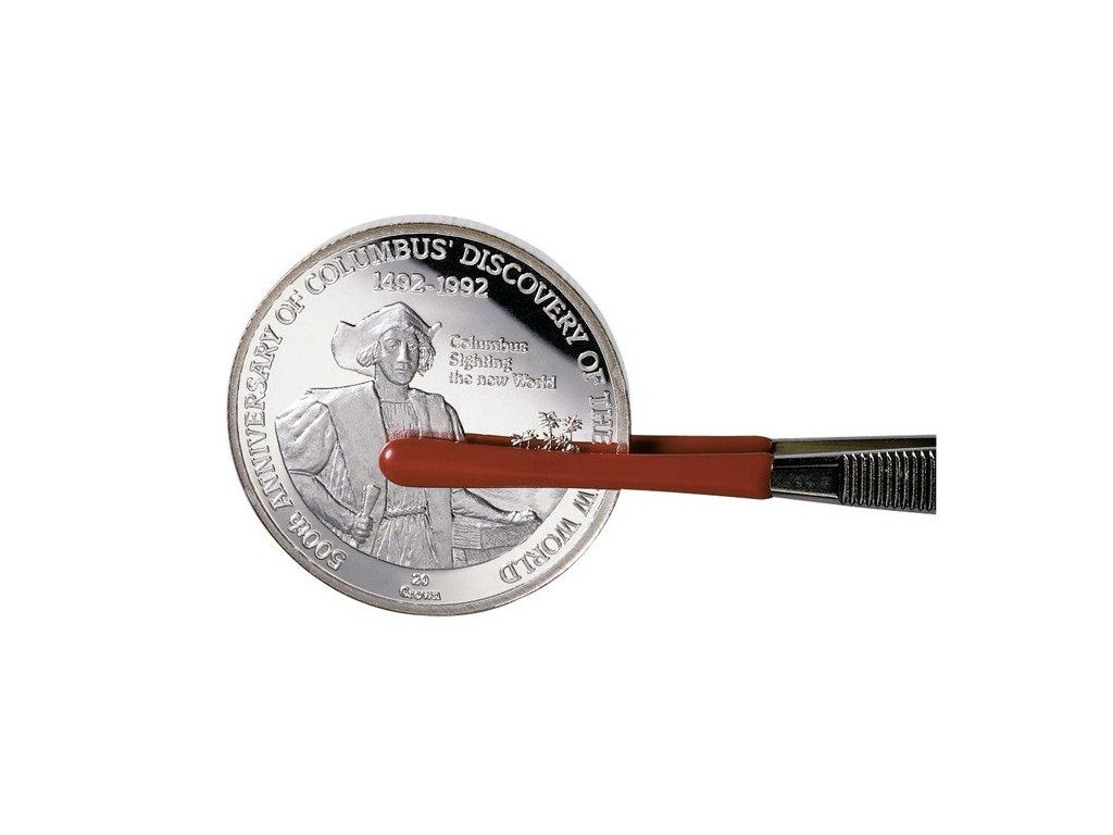 Pinzeta na mince s ochranným zakončením Lindner