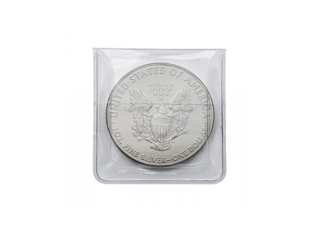 Kapsy na mince z čiré PVC-Folie (100 ks), Lindner