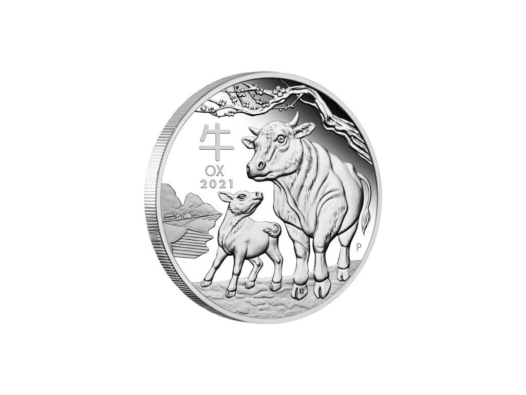 0 03 2021 Year of the Ox 1oz Silver Proof Coin OnEdge HighRes
