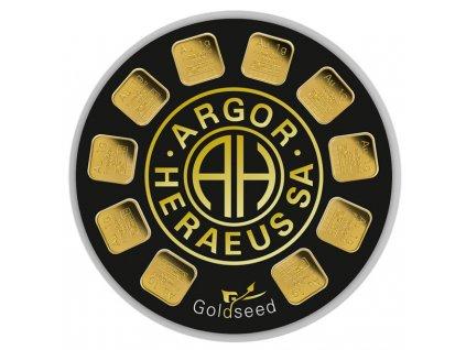 Zlaté slitky 10 x 1 g Goldseed - Argor Heraeus SA Švýcarsko