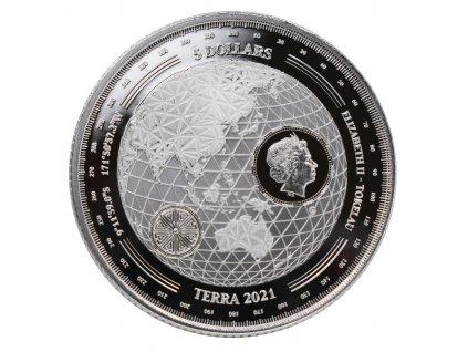 Stříbrná investiční mince 1 Oz - Terra 2021