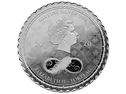 Stříbrná mince 1 Oz - Tokelau Chronos 2020