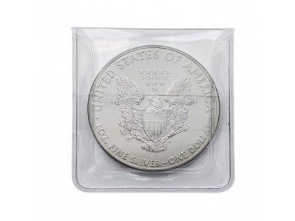 Kapsy pro mince z čiré PVC folie Lindner - 100 ks