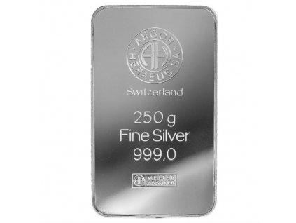 Stříbrný slitek 250 g - Argor Heraeus SA Švýcarsko