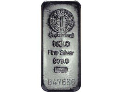 Stříbrný slitek 1000 g - Argor Heraeus SA Švýcarsko