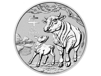 Silber 2021 Lunar III Ochse 2 oz VS