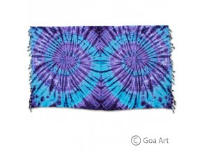 Sarong č.2 modro - fialová špirála