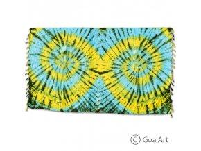 Sarong č.8 modro - žltá špirála