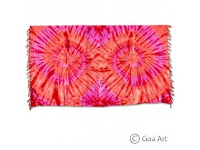 Sarong č.9 červeno - ružová špirála