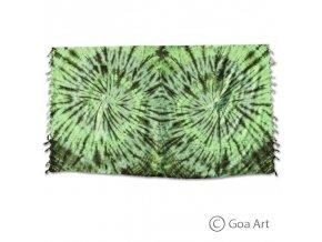 Sarong č.11 tmavo - svetlo zelená špirála