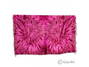 Sarong č.12 fialovo - ružová špirála