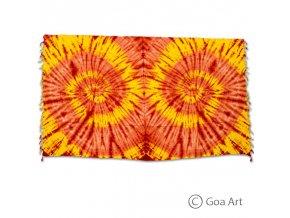 Sarong č.14 žlto - oranžová špirála